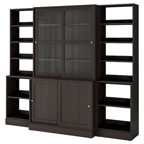 Galant Storage Combination With Drawers Black Stained Ash Veneer 63x63 En 2020 Porte Coulissante Verre Porte Verre Armoire Avec Portes Vitrees