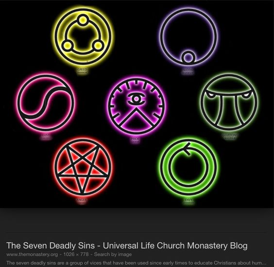 Seven Deadly Sins, Symbols And Search On Pinterest