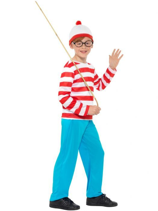 Adults Kids Children Book Week Day Wally Wenda Fancy Dress Outfit Accessory Set