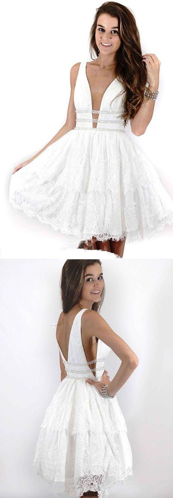 Lace White Prom Dresses Lacewhitepromdresses Prom Dresses 2018 Promdresses2018 Lace Prom Prom Dresses Short Cheap Short Prom Dresses White Lace Prom Dress [ 1621 x 564 Pixel ]