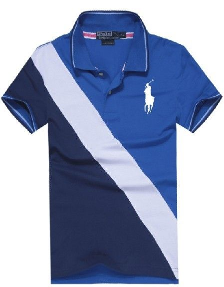 Cheap Polo By Ralph Lauren Men Custom Fit Big Pony Polo Blue For Sale
