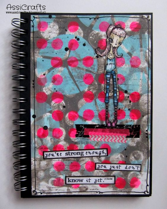 have an Art Journal page for you, which I made with the Gelli Plate.  --Stampotique Designer's Blog: Astrid on Sunday