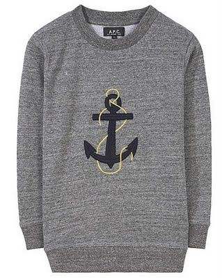 APC anchor sweatshirt (which they sadly no longer sell)