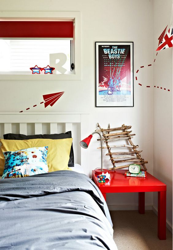 Inspiration from Emma O'Meara on Desire to Inspire: Adolescent Bedroom, Paper Airplanes, Boys Rooms, Kids Room, Airplane Decal, Playrooms Kids Bedrooms, Boy Room, Bedroom Designs, Bedroom Ideas