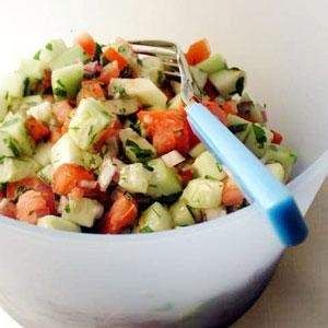 tomato and cucumber salad  1 points plus