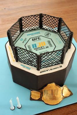 UFC cake for the boy haha