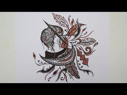 Zentangle #7 * Zeitraffer - YouTube