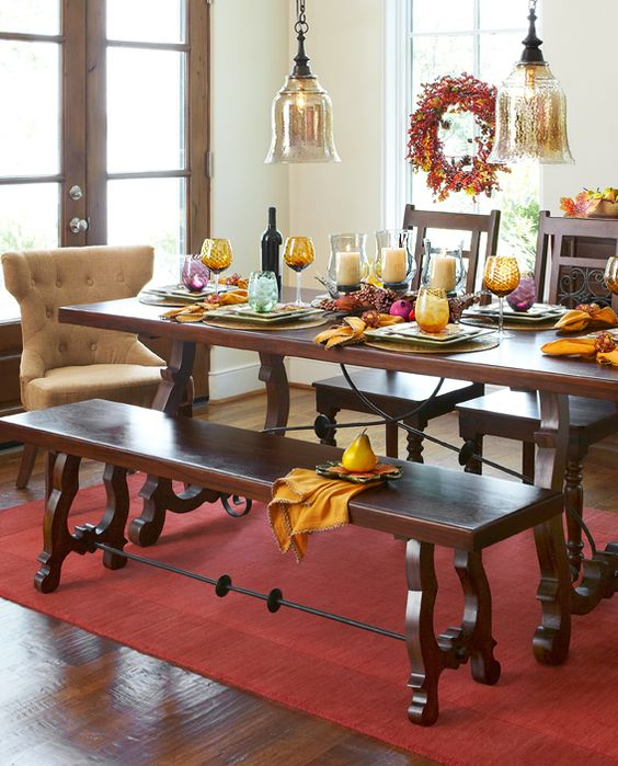 Easily impress your guests with the pier 1 indira trestle for Pier 1 dining room bench