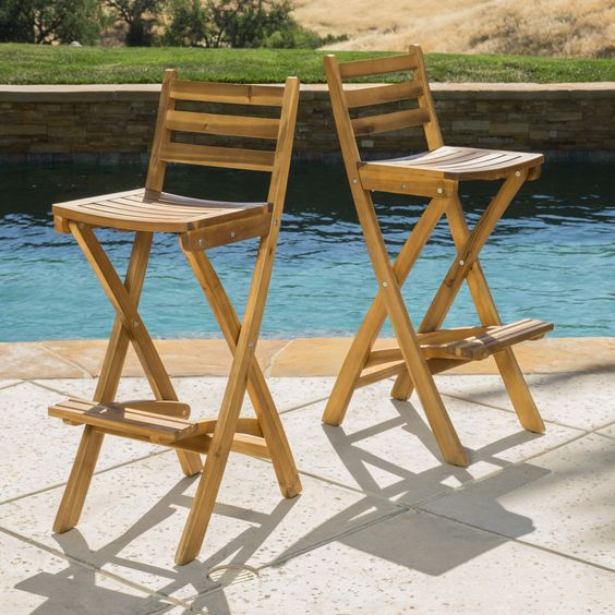 The Atlantic bar stool works great in any outdoor seating or bar area. They…