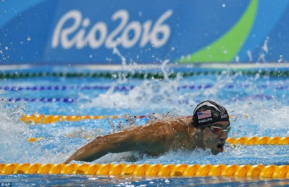 Phelps quickly brought Team USA back in front of Great Britain after their lead had slipped in the second lap