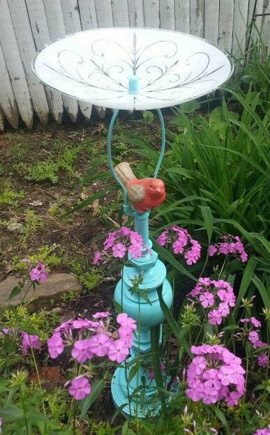 Lamp base, light cover birdbath.