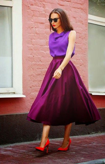 Women's fashion | Shades of purple and red heels
