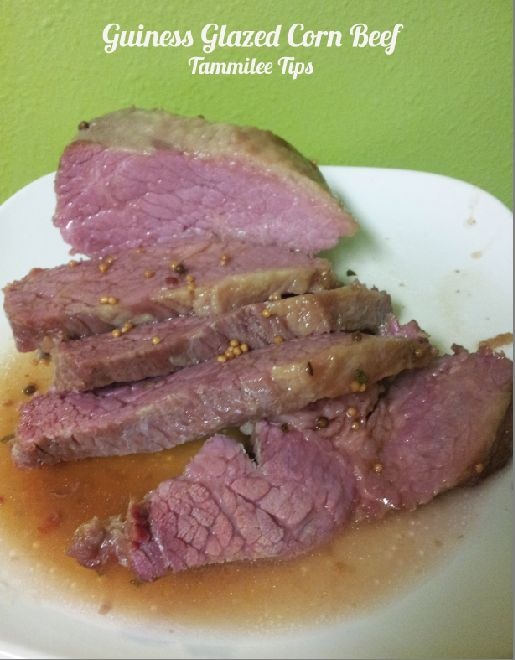 Guinness Glazed Corned Beef from Tammilee Tips