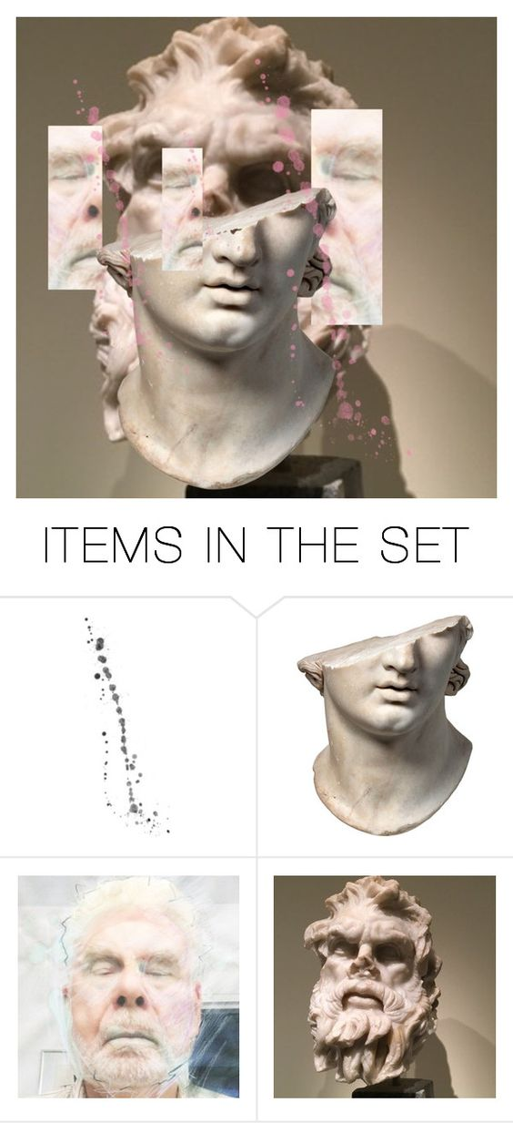 """""""FACEOFF/FACE/ON # 123: PERGAMON"""" by harrylyme ❤ liked on Polyvore featuring art"""