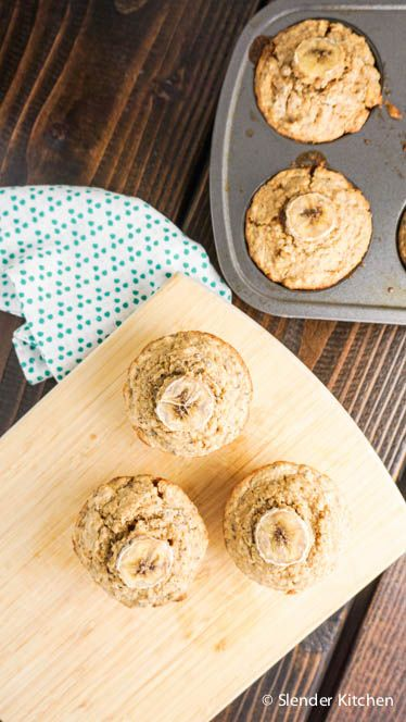 Healthy and delicious muffins made with quinoa, chia seeds, bananas, and whole wheat flour for under 200 calories and only 4 Weight Watchers PointsPlus