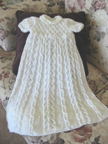 Christening Gown Knitting Patterns : Princess Christening Gown -- from Elegant Ensembles to Knit 2 My Knitting D...