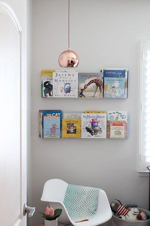 Peekaboo Shelf Clear Acrylic Bookshelf Set Of 2 Etsy In 2021 Acrylic Bookshelf Acrylic Wall Shelf Acrylic Shelf