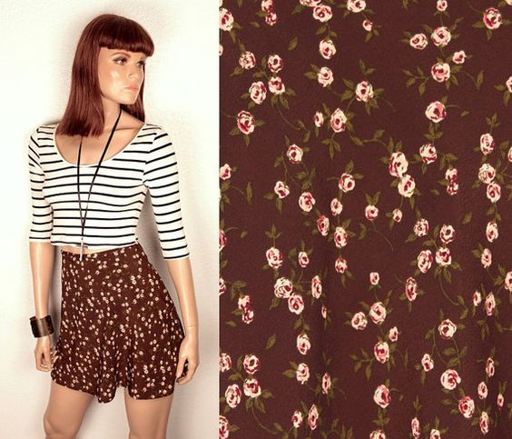 90s floral skirt // high waisted by BexVintage on Etsy, $23.00