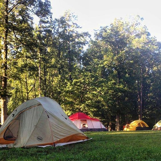 @jstiinmariie started her weekend off right #camping at #cartercavesstateresortpark! #TravelKY