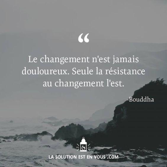 Le changement n'est jamais douloureux. Seule la resistance