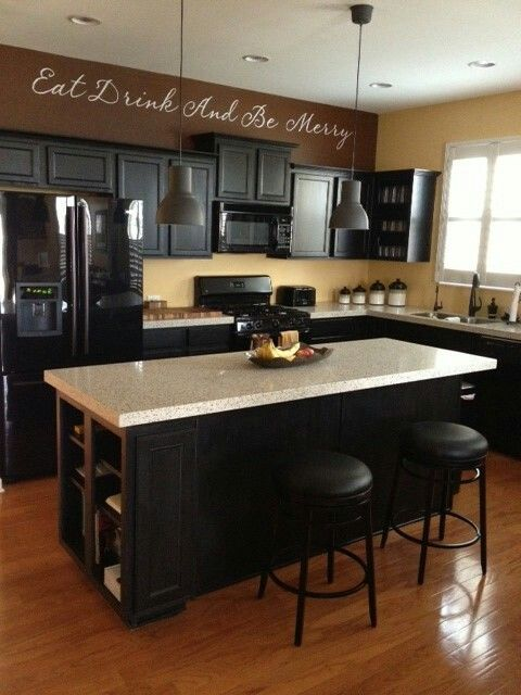 60 Kitchen Island Ideas Leaven Up Your Cookery Black Appliances Kitchen Black Appliances Kitchen Remodel