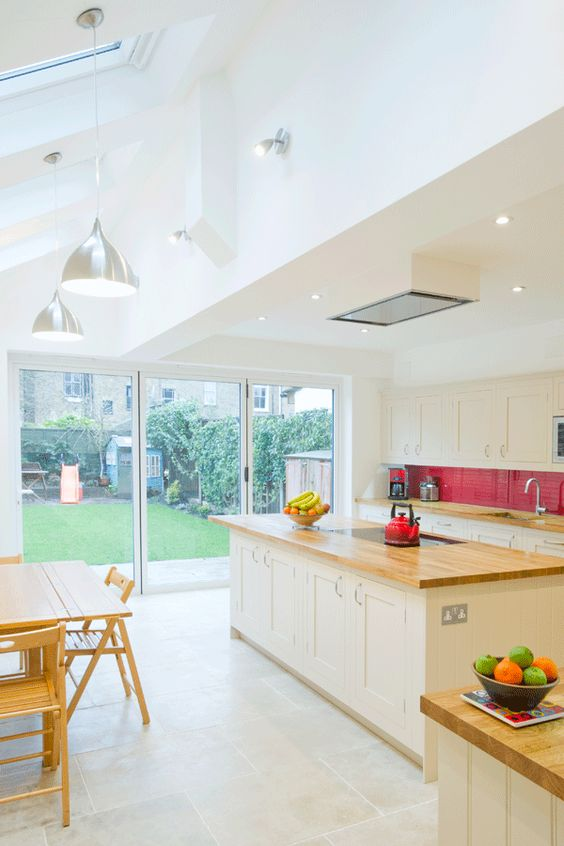 London Borough of Islington in Islington, Greater London, Side Return Extension, Side Extension, Kitchen Extension, Victorian Terraced House, Bi-Fold Doors, Kitchen, Rear Extension, Roof-lights, Glass Roof, Kitchen, Pitched Roof