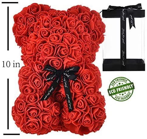 Rose Bear Hand Made Teddy Bear Flower Bear Rose Teddy Bear Gift For Mothers Day Valentines D In 2020 Clear Gift Boxes Teddy Bear Gifts Girlfriend Valentines