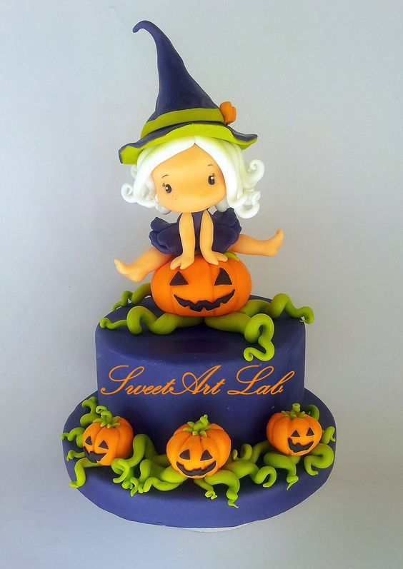 Cute cakes pumpkins and cakes on pinterest Cute easy halloween cakes