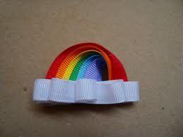 ribbon art hair clips - Google Search
