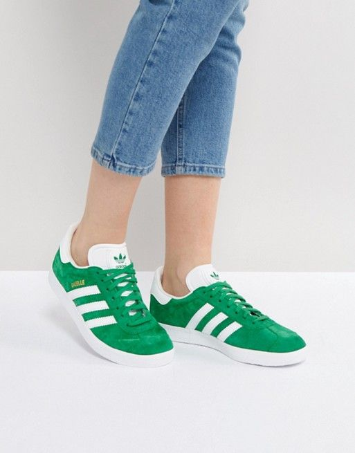 Lovely Things No.13 - Adidas Originals Gazelle Green Suede Trainer