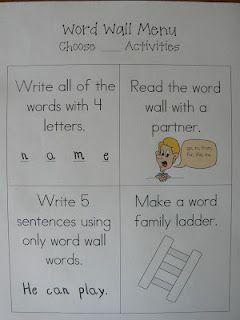 Mrs. T's First Grade Class: Word wall ideas Language Arts