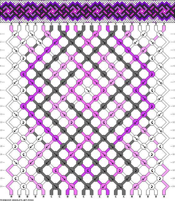 Muster # 59984, Streicher: 20 Zeilen: 20 Farben: 5