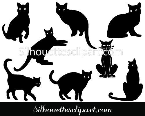 black cat silhouette graphics download cat vectors halloween vector graphics pinterest black cat silhouette cat silhouette and cat vector - Black Cat Silhouette Halloween