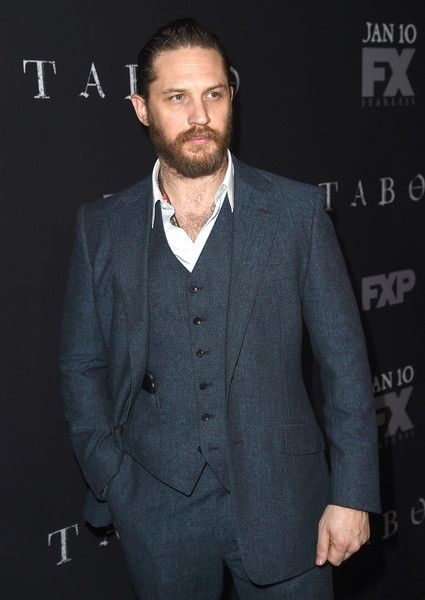 """Actor/creator/executive producer Tom Hardy arrives at the premiere of FX's """"Taboo"""" at the Directors Guild of America on January 9, 2017 in Los Angeles, California."""
