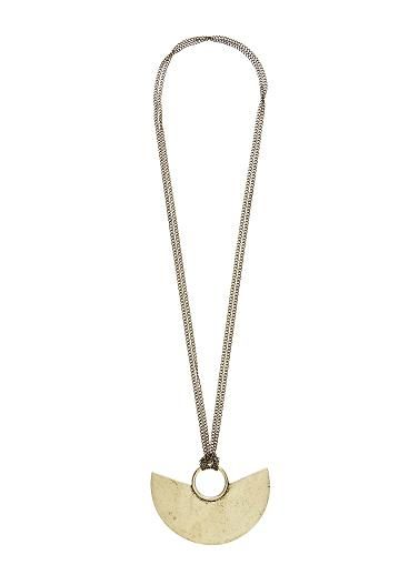 Anchor pendant necklace on a double chain length 80cm metal me anchor pendant necklace on a double chain length 80cm metal aloadofball Images
