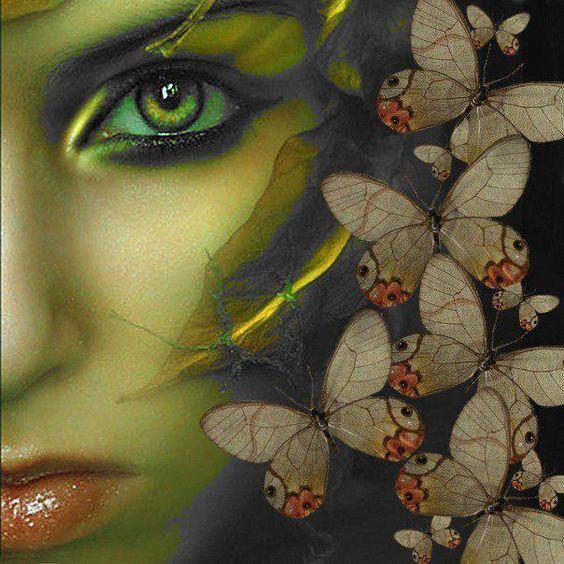 ,: Art Eye, Butterflies Dragonflies, Art Fantasy Realm, Green Eyes, Eye Art