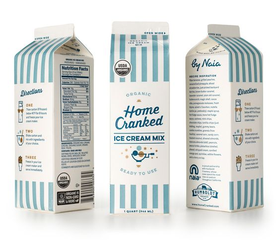 Home Cranked Ice Cream Mix — The Dieline - Branding & Packaging Design
