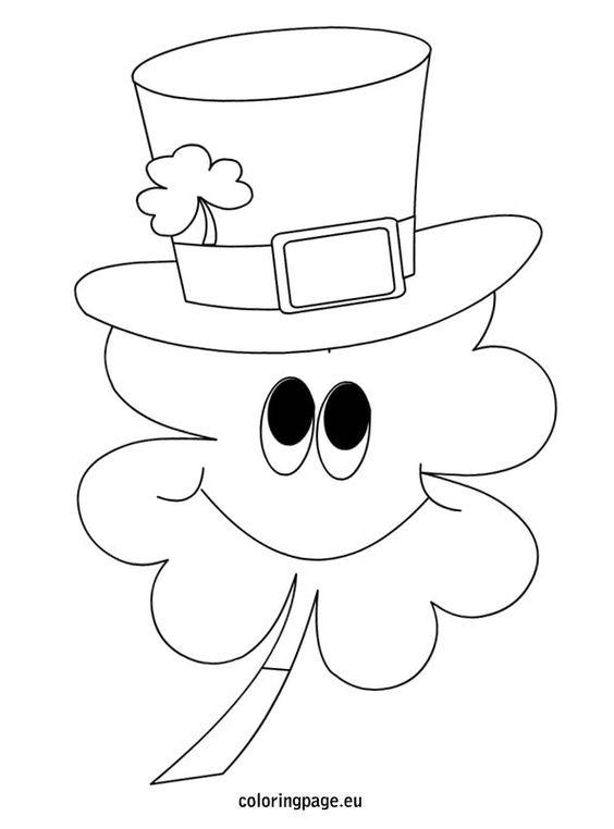 clover black and white st patrick�s day pinterest