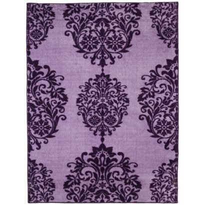 Xhilaration chandelier area rug purple decor for Rugs with purple accents