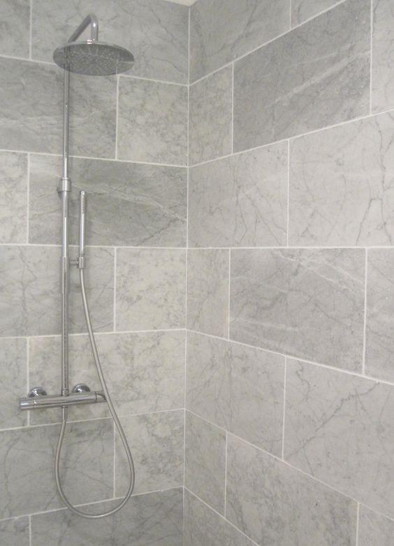 Small bathroom-shower tiles