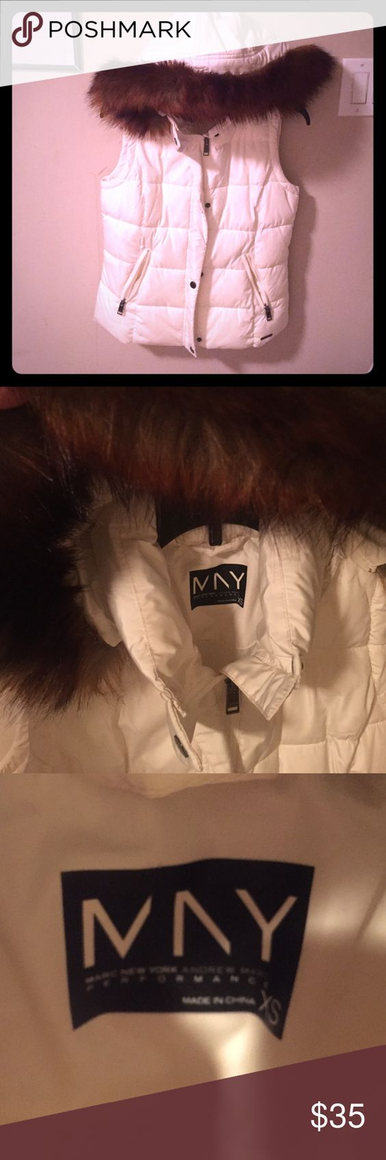 ✨NWOT Marc New York vest Beautiful vest perfect for any occasion. very hard to find! Can but can for up to a med or a large depending on how you like it to fit. Jackets & Coats Vests