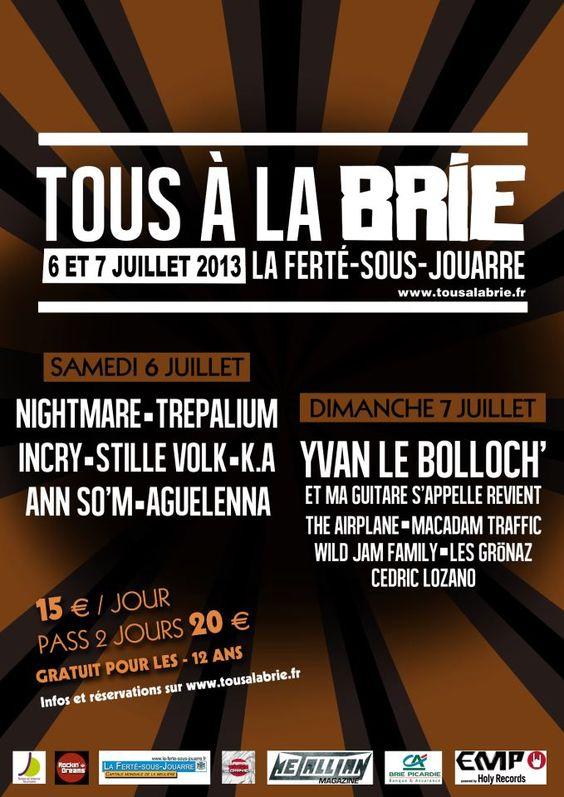 #Festival #Tousàla #Brie avec #Nightmare et #Trépalium le 20 #juillet à La Ferté-sou-Jouarre.