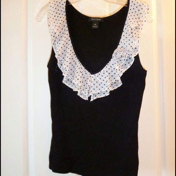 White House Black Market Tops - Fantastic casual Black and White lacy top