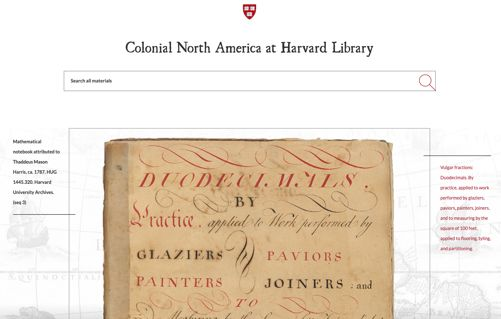 Harvard Library's Colonial North America Project Now Provides Access to Over 650,000 Digitized Pages From 17th and 18th Centuries | LJ infoDOCKET