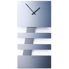 Reloj de pared Bold Stripes transparente