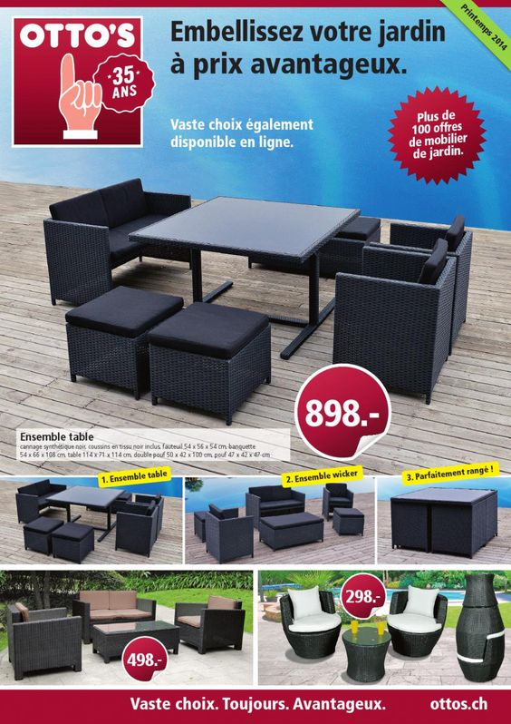 Otto S Table De Jardin Outdoor Furniture Sets Outdoor Furniture Outdoor Decor