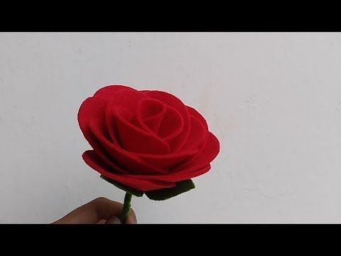 Diy Felt Rose Flowers Cara Membuat Bunga Mawar Dari Kain Flanel Youtube Felt Flower Bouquet Felt Roses Felt Flowers