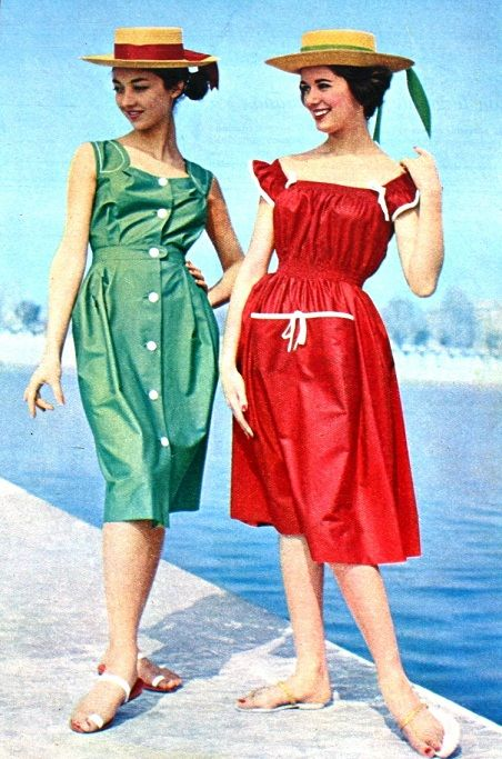 Cole Of California summer dresses 1959 I really like the red one ...