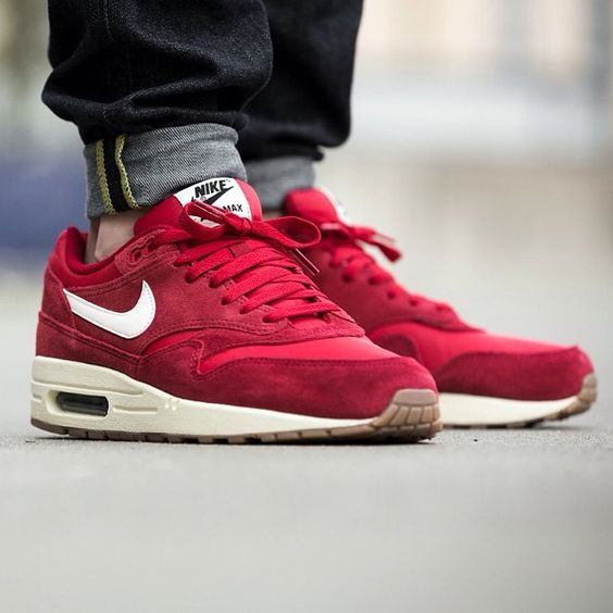 """Nike Air Max 1 ESSENTIAL """"Red Gum"""" - 43einhalb Sneaker Store Fulda"""