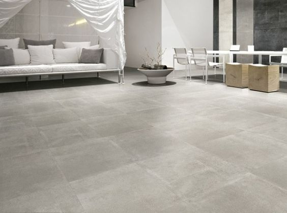 Gris clair salon pinterest for Carrelage effet beton